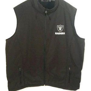 NFL Football RAIDERS Black Jacket Vest 4XL
